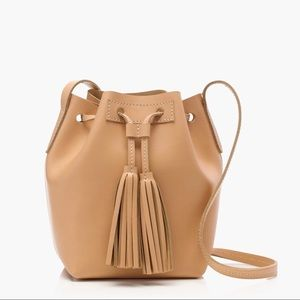 NWT J. Crew Mini bucket bag in leather